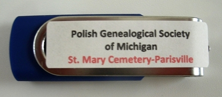 St. Mary Cemetery, Parisville, Huron Cty - Flash Drive